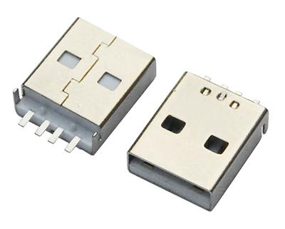 USB AM SMT 短体沉板 L=14.0