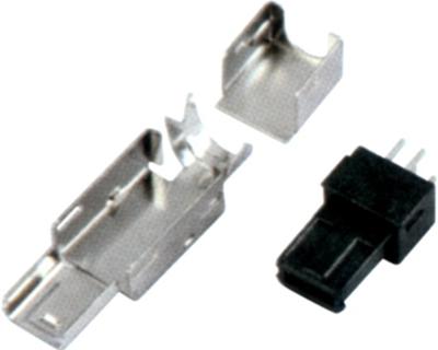 MINI USB 4M 焊线 单,中,双防呆 三件式