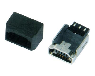 MINI USB 5F A TYPE 180°焊线+护套