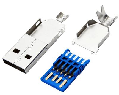 USB 3.0 AM 焊线三件式