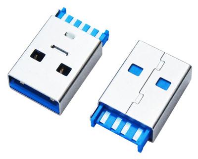 USB 3.0 AM 焊线 短体 一件式