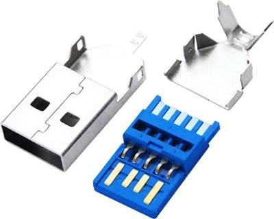 USB 3.0 AM 焊线 短体 三件式