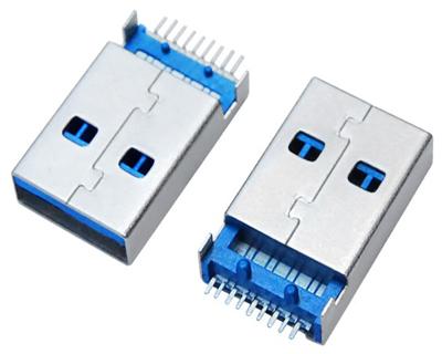 USB 3.0 AM SMT 沉板1.9,2.6,3.2 K脚,直脚