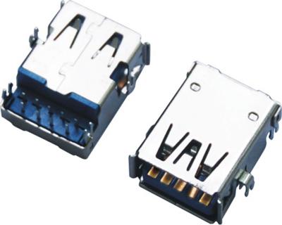 USB 3.0 AF 90°DIP 沉板 四脚鱼叉