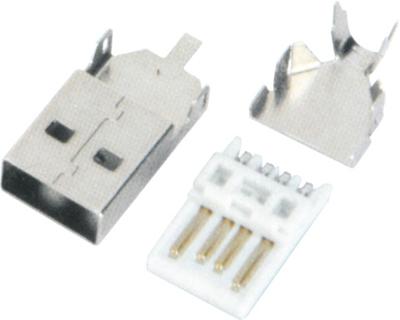 USB AM 焊线 短体 三件式 L=28.0