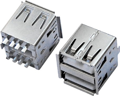 USB AF 双层 180°焊线 短体L=14.3