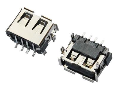 USB AF 短体 L=10.0 SMT 四脚鱼叉