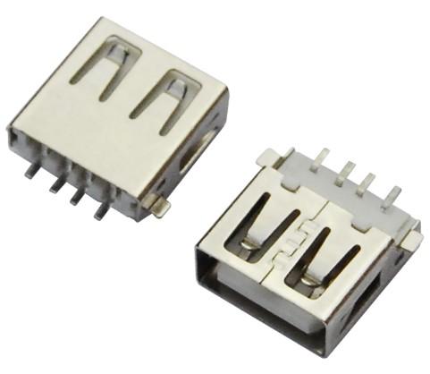 USB AF 180°DIP 短体 L=10.0