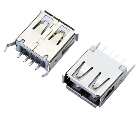 USB AF 180°DIP L=13.7