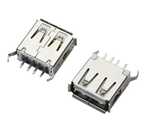 USB AF 180°DIP L=13.0