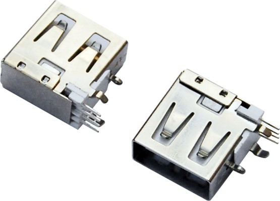 USB AF 90°侧插 短体 三只脚