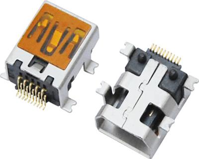 MINI USB 10F SMT 四脚全贴 (飞利浦款)