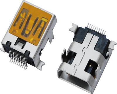 MINI USB 10F SMT 前插后贴 (飞利浦款)