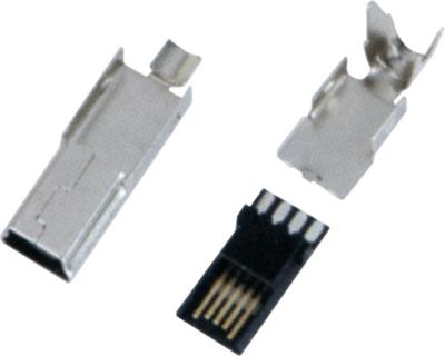 MINI USB 5M B TYPE 超薄型 三件式