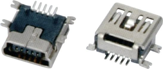 MINI USB 5F B TYPE SMT短体 7.70
