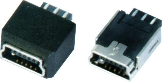 MINI USB 5F B TYPE 180°焊线+护套