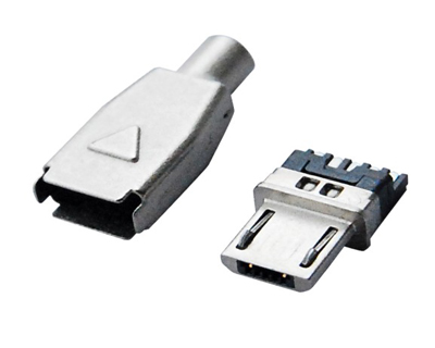 MICRO USB 5M B TYPE 焊线 锌合金壳
