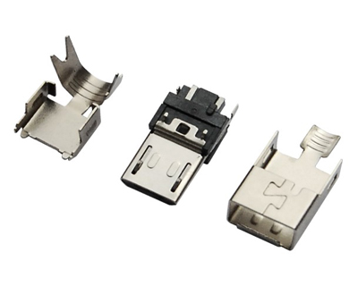 MICRO USB 5M B TYPE 焊线 三件式