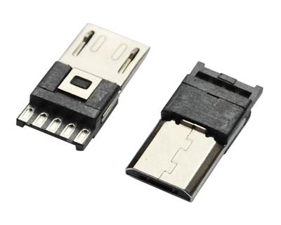 MICRO USB 5M B TYPE 超薄焊线式 H=3.0