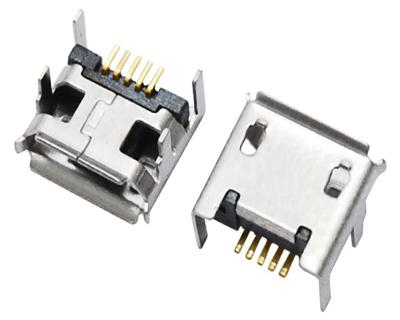 MICRO USB 5F B TYPE 四脚 DIP 7.20-7.20
