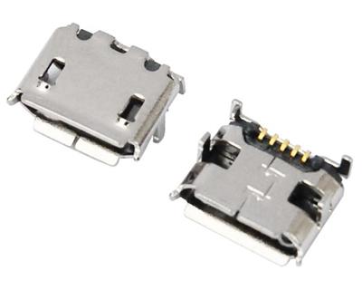 MICRO USB 5F B TYPE 四脚 DIP 7.20-6.60