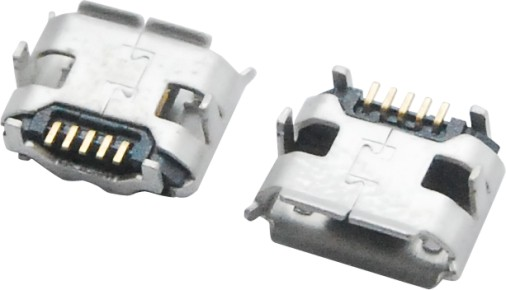 MICRO USB 5F B TYPE 四脚 DIP 7.20-5.20