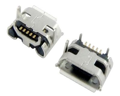 MICRO USB 5F B TYPE 四脚 DIP 7.20-4.85