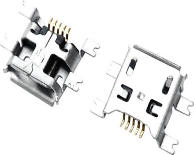 MICRO USB 5F B TYPE 沉板0.70 四脚全贴 B款