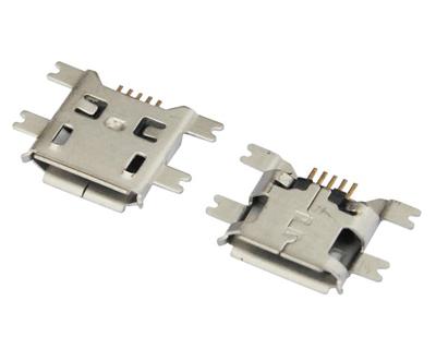 MICRO USB 5F B TYPE 沉板 1.60 四脚全贴