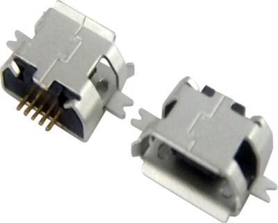 MICRO USB 5F B TYPE 沉板 1.60 两脚 SMT