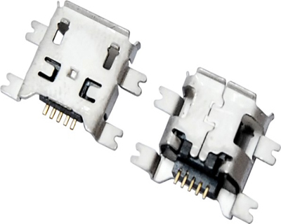 MICRO USB 5F B TYPE 沉板 1.20 四脚全贴 B款