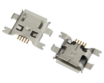 MICRO USB 5F B TYPE 沉板 1.60 前插后贴
