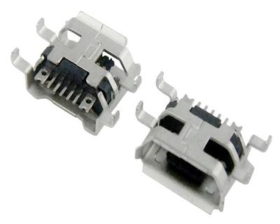MICRO USB 5F B TYPE 沉板 0.72 六脚