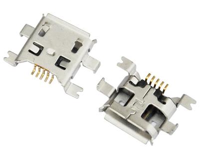 MICRO USB 5F B TYPE 沉板 0.70 前插后贴