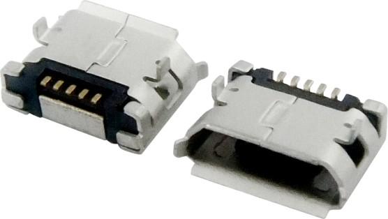 MICRO USB 5F B TYPE DIP 6.40+焊盘