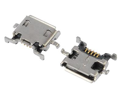 MICRO USB 5F AB TYPE 沉板0.70 四脚 DIP 10.0-8.10