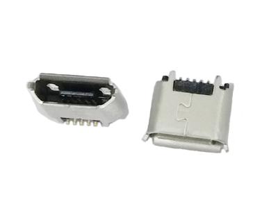 MICRO USB 5F B TYPE 180度SMT有柱有卷边