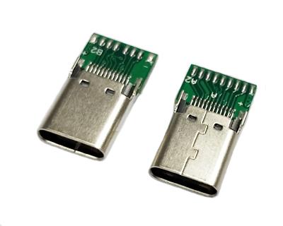 TYPE C母座夹板0.8长体带PCB板