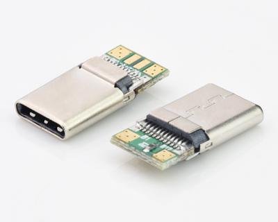 Type c Male冲压壳带PCB板