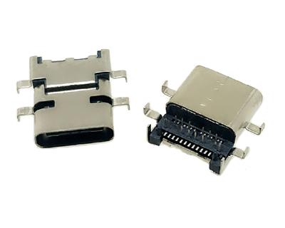 USB 3.1 C TYPE 沉板前DIP后SMT6脚插板