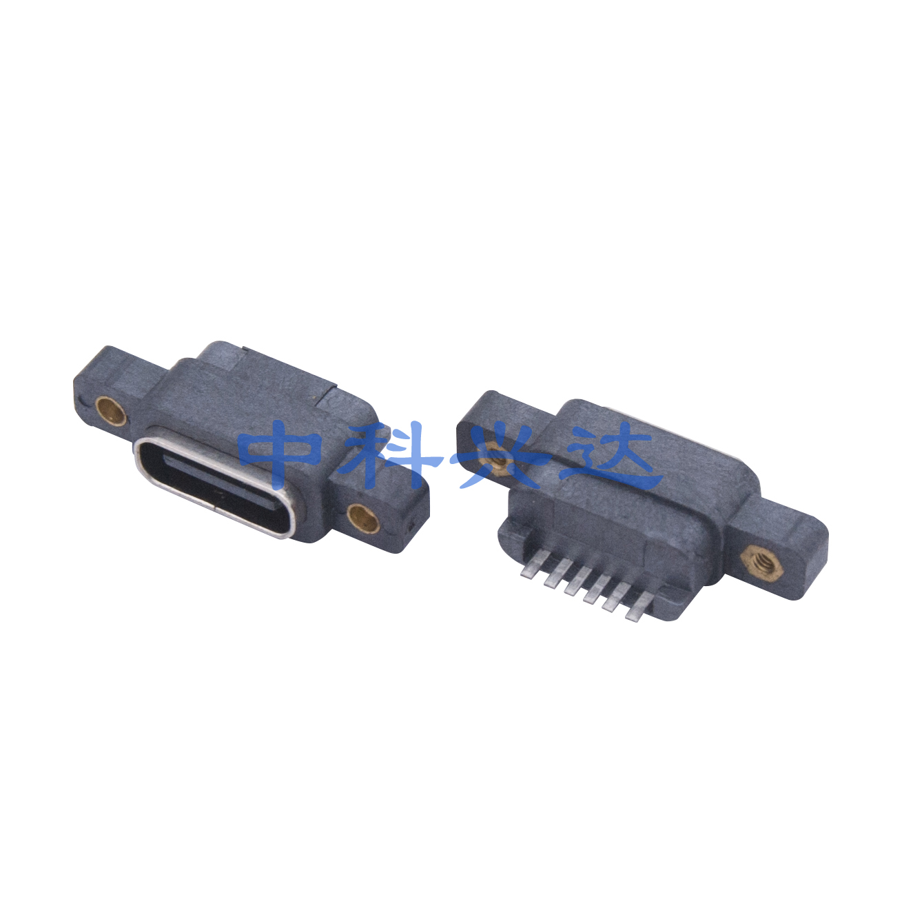 type c 6pin防水型带螺水孔