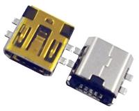 MINI USB 5F AB TYPE SMT沉板式 短体 7.70