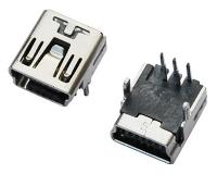 MINI USB 5F B TYPE 90°DIP 两脚
