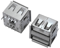 USB AF 双层 180°DIP 短体 L=10.5