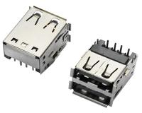 USB AF 双层 90°DIP 沉板 反向