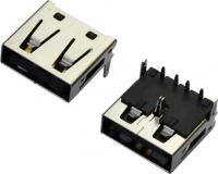 浙江USB AF 90°DIP 反向型 三只脚