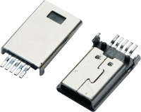 MINI USB 5M B TYPE SMT 前五后五 有柱