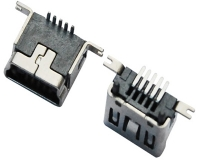 MINI USB 5F B TYPE 180°SMT式
