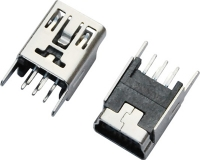 MINI USB 5F B TYPE 180°DIP 直脚