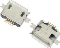 MICRO USB 5F B TYPE 沉板 1.00 两脚 SMT